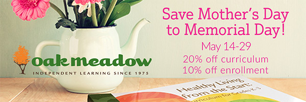 Oak Meadow Sale May 2017