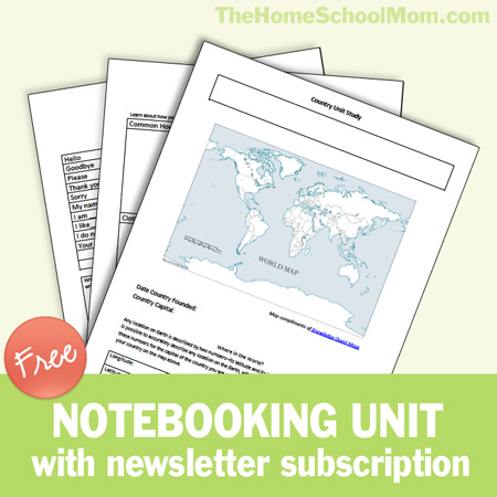 Free country notebooking unit study