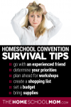 Homeschool Convention Survival Tips