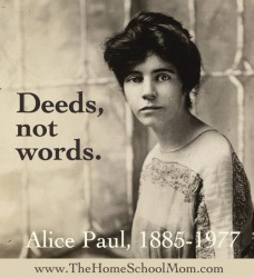 TheHomeSchoolMom: Alice Paul and the Women's Suffrage Movement