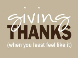 TheHomeSchoolMom.com: Giving thanks (when you don't feel like it)
