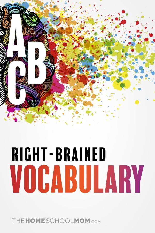 Right-brained vocabulary ideas