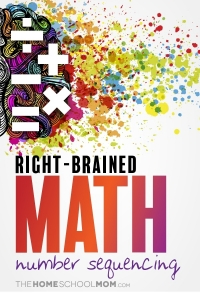 Right-brain math - number sequencing