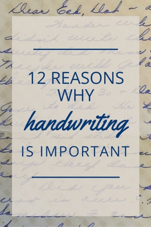 TheHomeSchoolMom Blog: 12 Reasons Why Handwriting Is Important