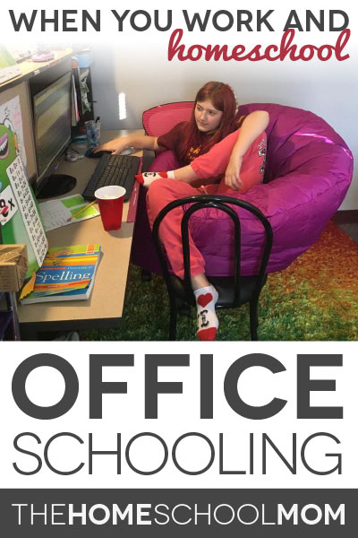 """TheHomeSchoolMom Blog: Work and homeschooling can include """"office schooling"""""""