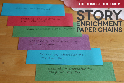 TheHomeSchoolMom Blog: Creative writing with story enrichment paper chains (examples)