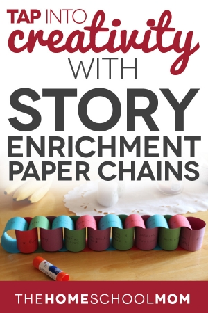 TheHomeSchoolMom Blog: Creative writing with story enrichment paper chains