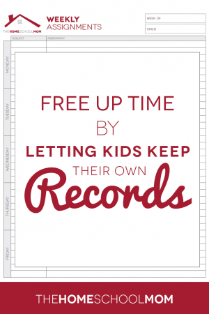 Free up time by letting kids keep their own homeschool records