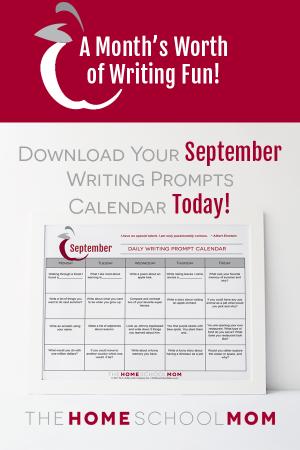 September Writing Prompt Printable Calendar