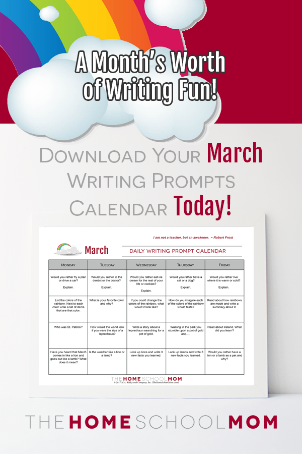 March Homeschool Writing Prompts