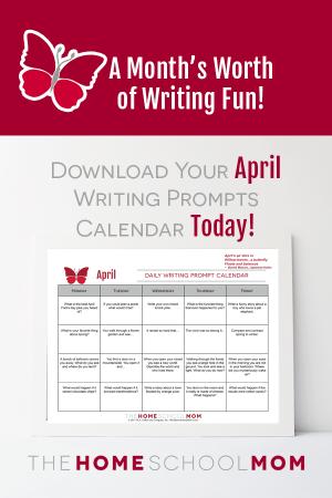April Writing Prompt Calendar