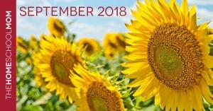 TheHomeSchoolMom Newsletter - September 2018