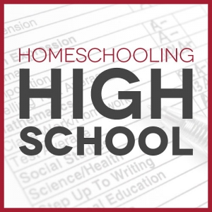 report card with text overlay Homeschooling High School