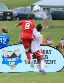 Nick, #8, a left back, was a guest player for the Richmond Kickers U15 elite team, which won the 2012 Virginia Cup tournament in September.
