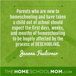 """What is """"deschooling""""?"""