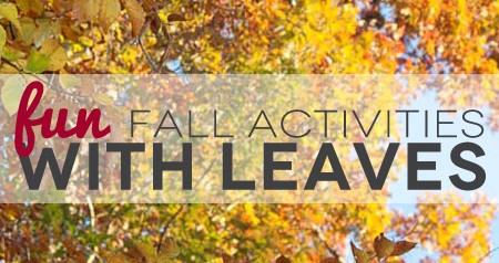 TheHomeSchoolMom: Fun Fall Activites with Leaves