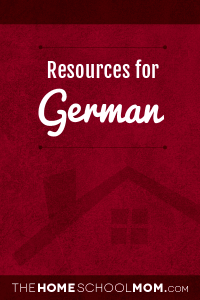 Homeschool resources: German