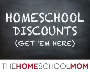 Homeschool discounts (Get 'em here)