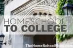 TheHomeSchoolMom: Homeschool to College