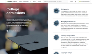 Resource of the Week: Khan Academy's College Admissions