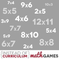 Instead of Curriculum: Math Games