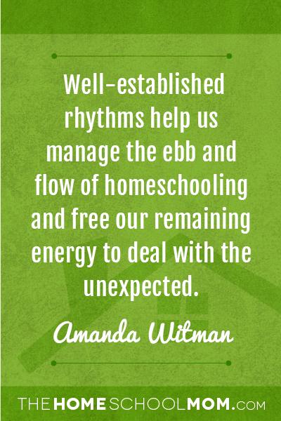TheHomeSchoolMom Blog: Rhythms, Routines, Rituals In the Homeschool