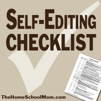 TheHomeSchoolMom: Self-Editing Checklist Download