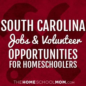 South Carolina Jobs & Volunteer Opportunities for Homeschoolers
