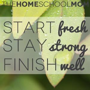 TheHomeSchoolMom: Start Fresh