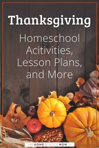 Homeschool resources about Thanksgiving