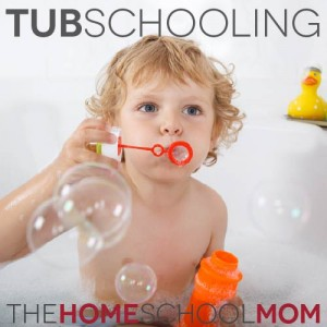 TheHomeSchoolMom Blog: Tub Schooling